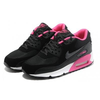 air max 90 noir et rose femme