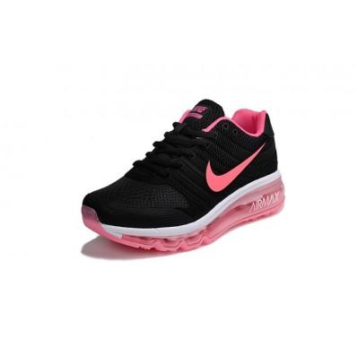 basket femme nike air max noir et rose