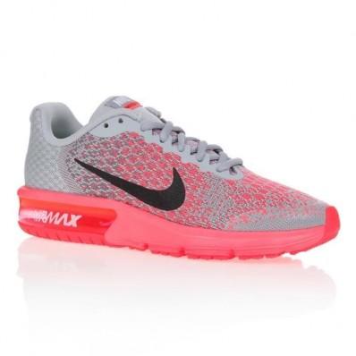 baskets air max fille grise et rose