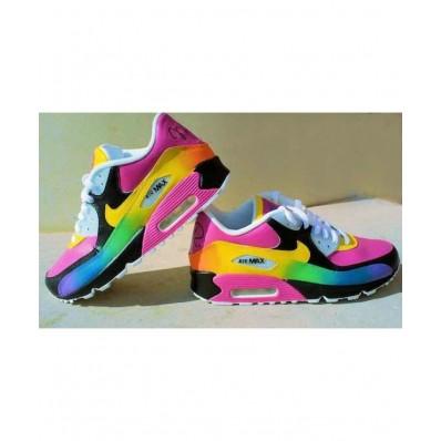 chaussure femme arc en ciel air max