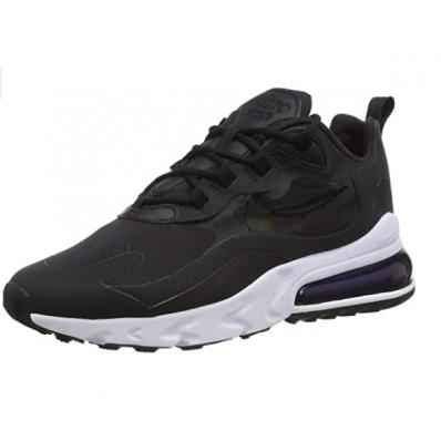 Nike Air Max 270 React Women's Shoe, Chaussure de Course Femme Noir et blanc