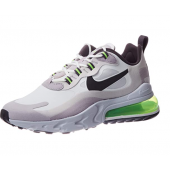 Nike Air Max 270 React, Chaussure de Course Homme Bianco Summit White Electric Green vapste Grey Silver