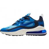 Nike Air Max 270 React, Chaussure de Course Homme Blue Pacific Blue super Blue University Blue Black blue