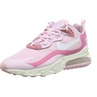 Nike Air Max 270 React W, Chaussure de Course Femme Rose Powder Foam White Digital Powder sail