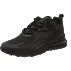 Nike Air Max 270 React, Chaussure de Course Homme Mastic noir noir et blanc