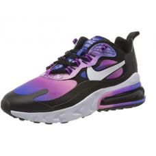 Nike W Air Max 270 React Se, Chaussure de Course Femme Superblue White Magic Flamingo Bright Purple Black