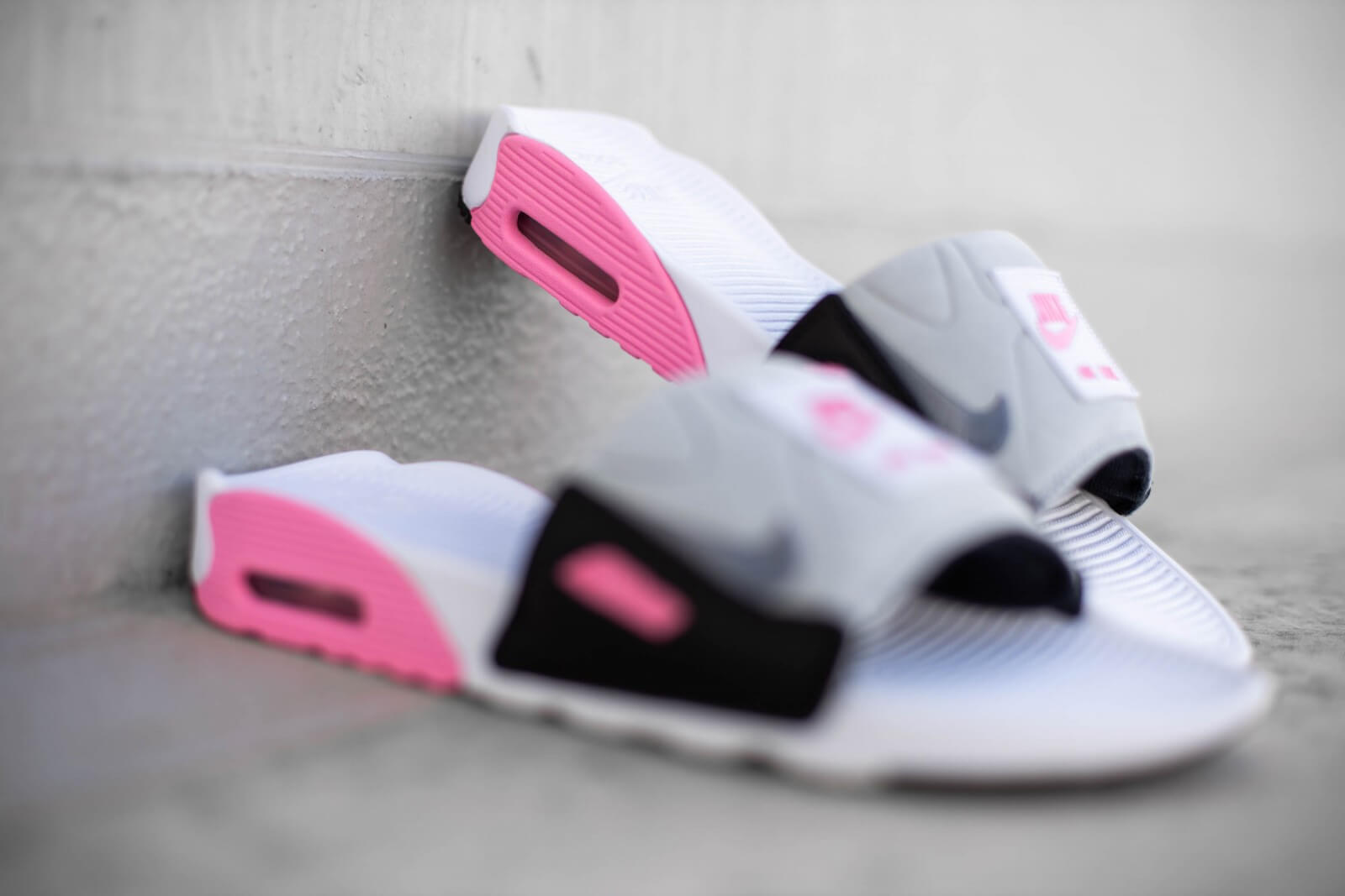 air max 90 slide rose et gris
